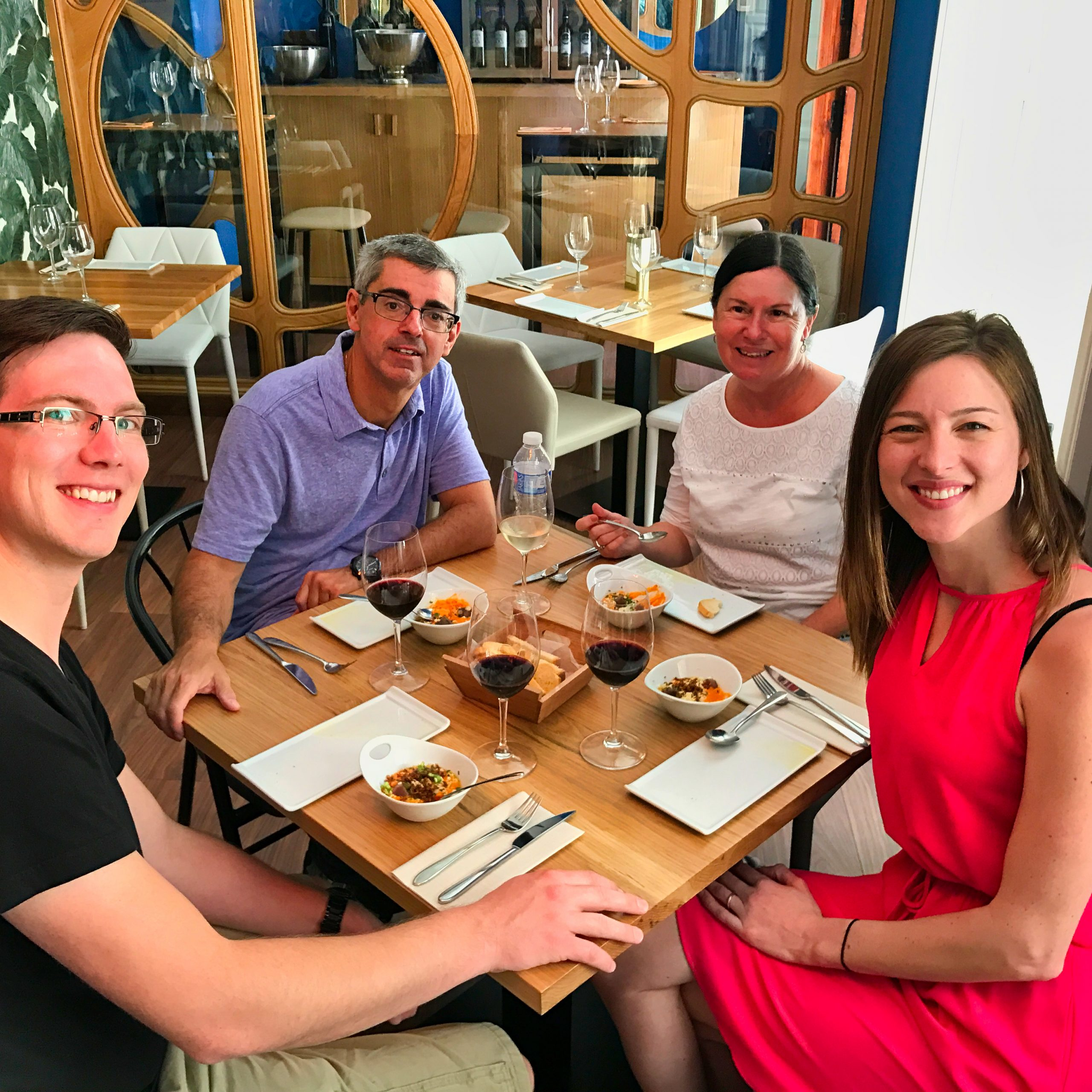 Wine and tapas during our food tour in Malaga
