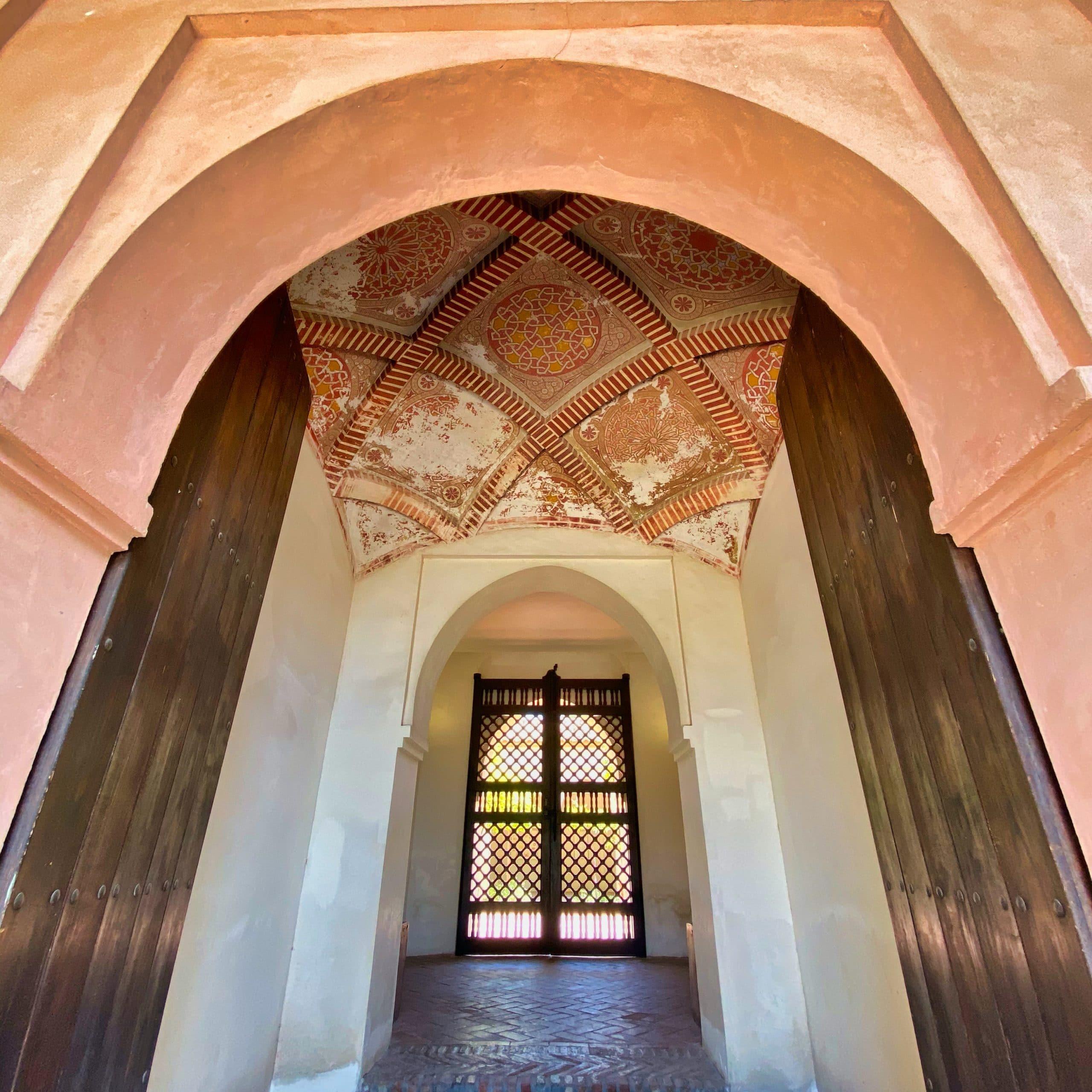 Main entrance to Moorish palaces Alcazaba malaga