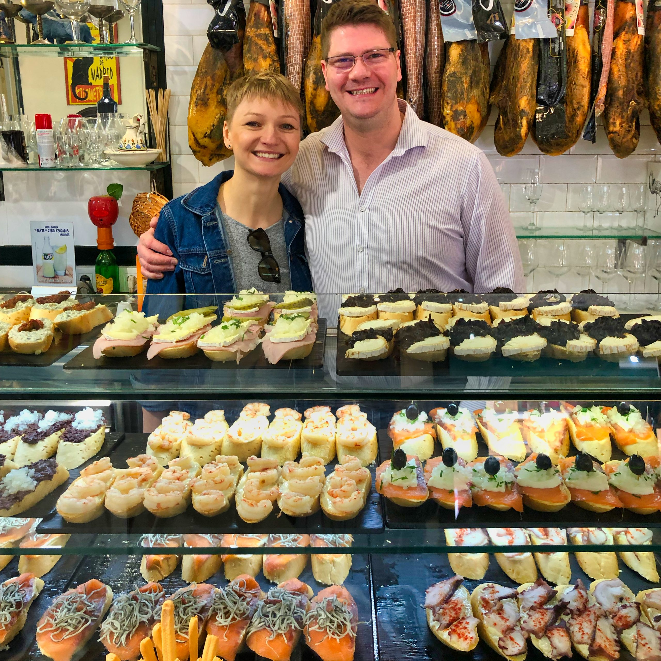 Tapas in Malaga during our food tour