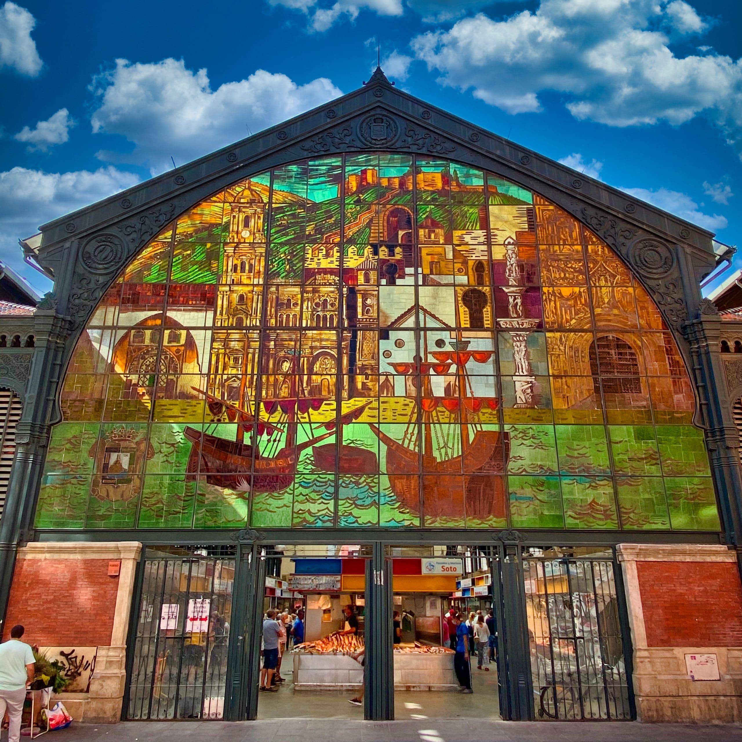 Markt stein Glasfenster in Atarazanas