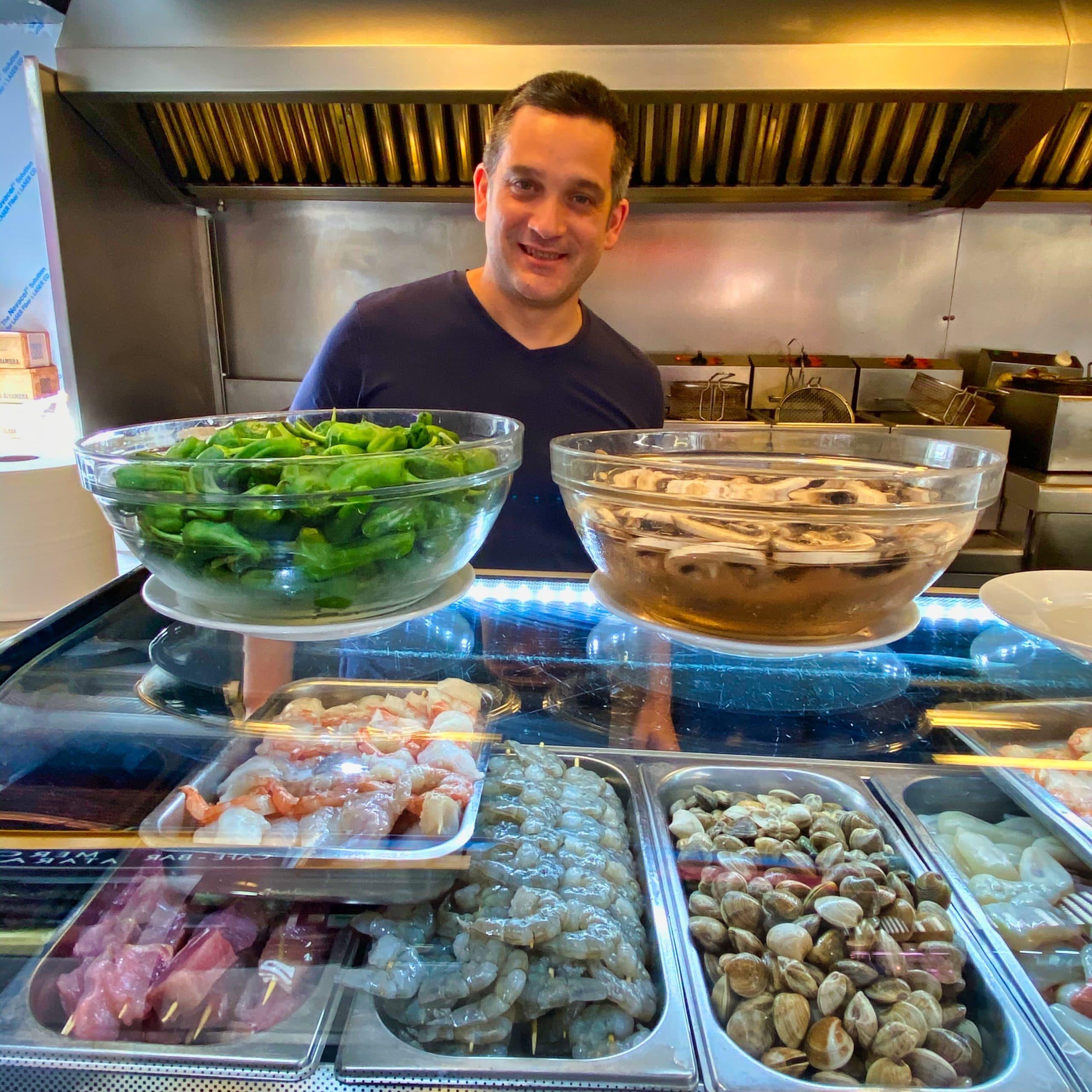 Restaurant inside market