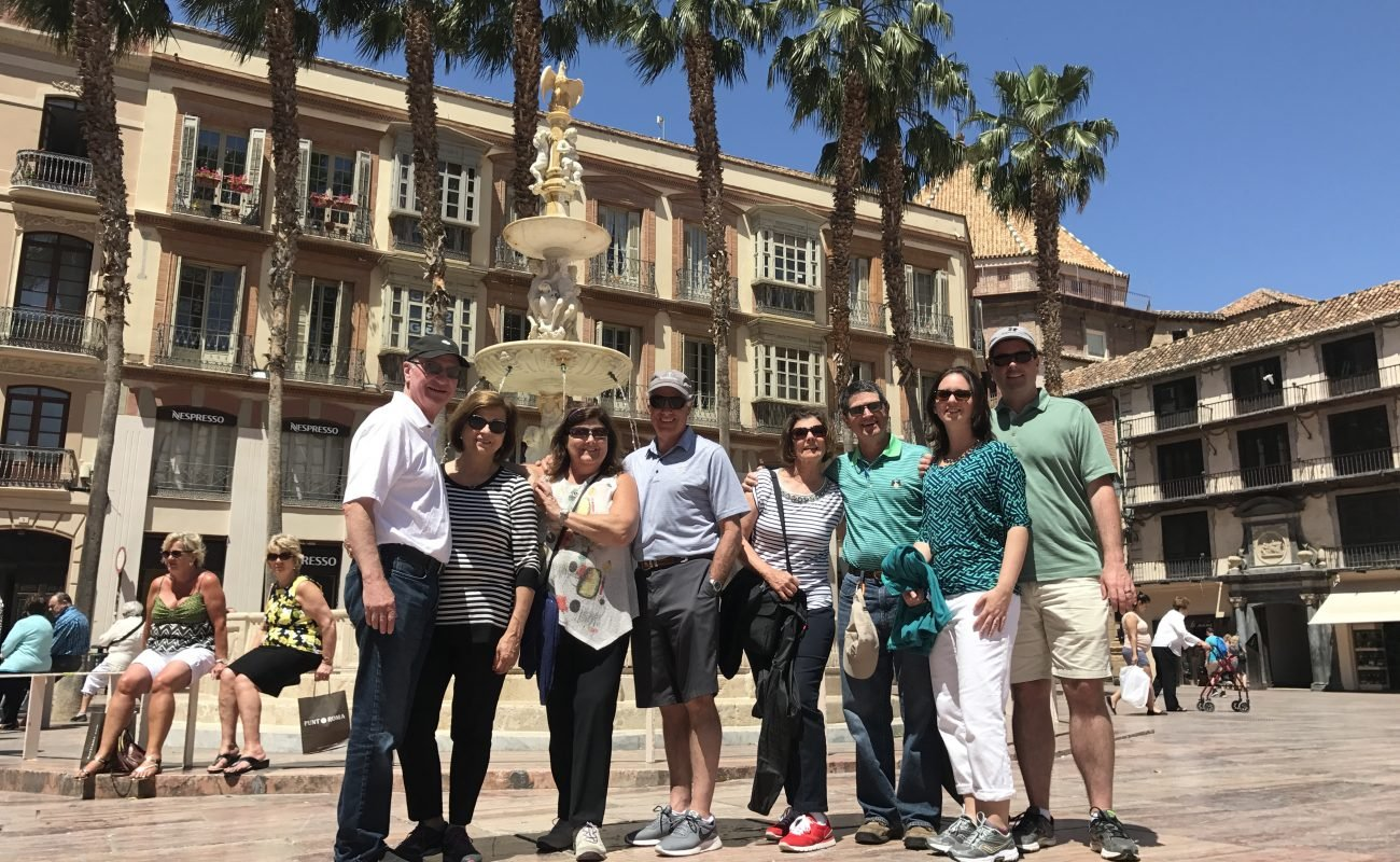 Travelers enjoying the great weather in Malaga