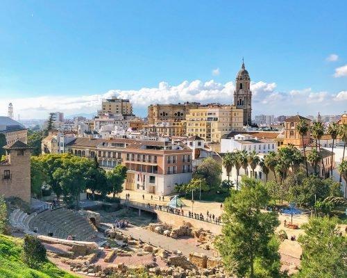 Malaga from the Roman Theater